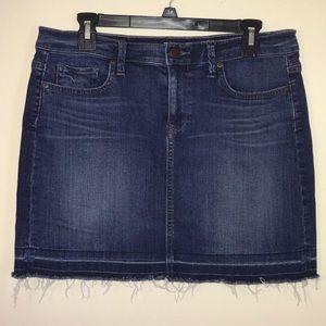 Ann Taylor Loft Midi Jean Skirt